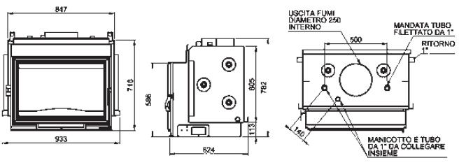 Termo-caminetto-legna-idro-artistico-ch860-dimensioni