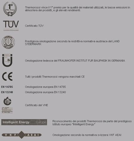 Thermorossi-Certificazioni