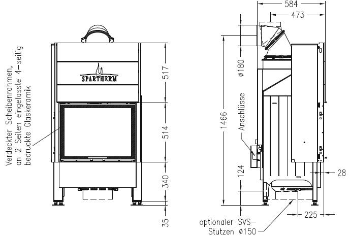 Termocamino-legna-Spartherm-Varia-1Vh-h2o-dimensioni