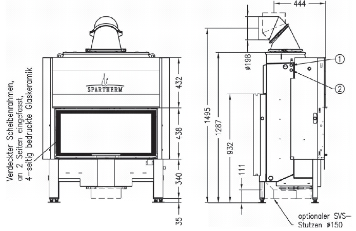 Termocamino-legna-Spartherm-Varia-ah-h2o-dimensioni