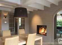 Caminetti a legna M Design Diamond due vetri