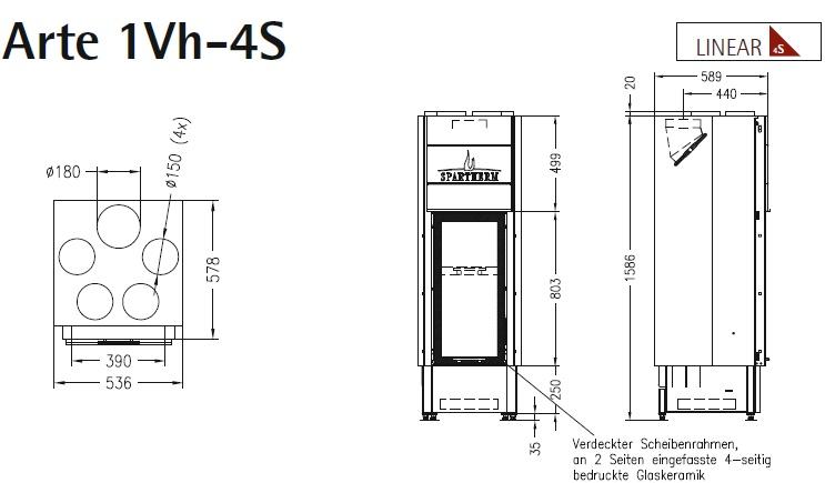 Caminetto-legna-Spartherm-Arte-1Vh-dimensioni
