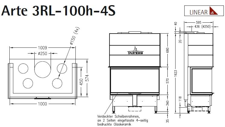 Caminetto-legna-Spartherm-Arte-3RL-100h-dimensioni