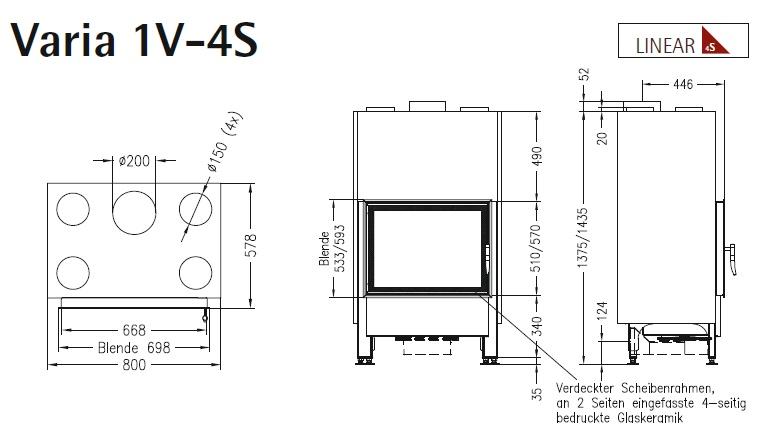 Caminetto-legna-Spartherm-Varia-1V-dimensioni