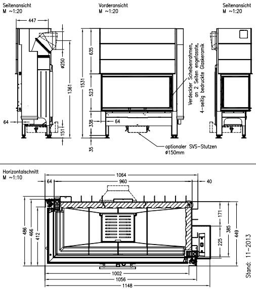 Caminetto-legna-Spartherm-Varia-2L-100h-dimensioni