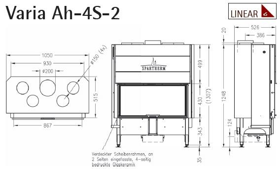 Caminetto-legna-Spartherm-Varia-Ah2-dimensioni