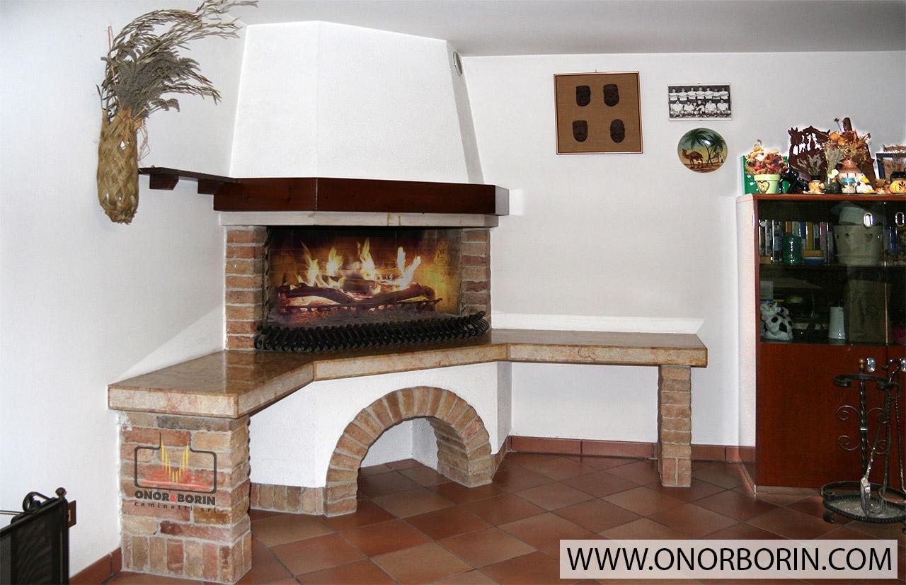 Caminetto per cucinare - Onor e Borin