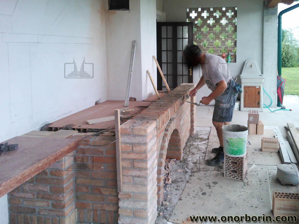 Célèbre caminetti barbecue muratura - Onor e Borin TN59