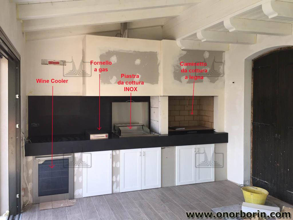 Caminetti da cottura moderni - Onor e Borin