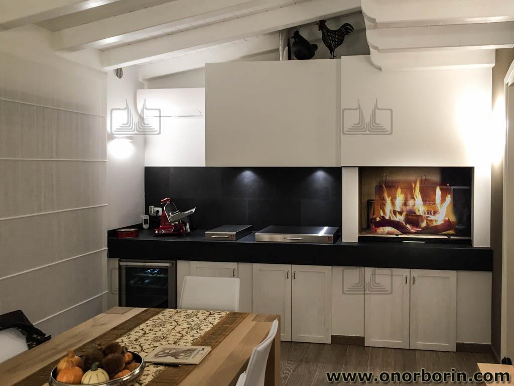 CAPPA ASPIRANTE Cucina Camino 60cm da parete acciaio spazzolato ...
