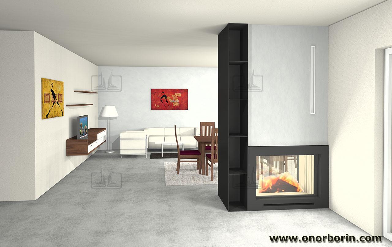 Caminetti Moderni Design : Progettazione camini moderni onor e borin